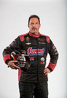 Feb 6, 2020; Pomona, CA, USA; NHRA pro stock driver Greg Anderson poses for a portrait during NHRA Media Day at the Pomona Fairplex. Mandatory Credit: Mark J. Rebilas-USA TODAY Sports