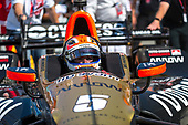 2017 Verizon IndyCar Series<br /> Toyota Grand Prix of Long Beach<br /> Streets of Long Beach, CA USA<br /> Sunday 9 April 2017<br /> James Hinchcliffe pulls into victory lane<br /> World Copyright: Gavin Baker/LAT Images