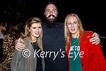 Enjoying the evening in Killarney on Saturday, l to r: Evonne Coughlin (Cork). Ivan O'Regan (Castlegregory) and Laurda Ferga (Killarney).