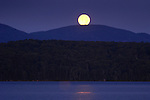 Full moon over squaw Mountain, Moosehead Lake, ME