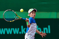 Netherlands,  Rotterdam August 05,  2015,  Tennis,  National Junior Championships,  NJK,  TV Victoria, <br /> Daniel Verbeek<br /> Photo: Tennisimages/Henk Koster