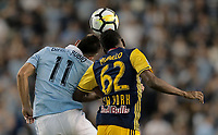 Kansas City, KS - Wednesday September 20, 2017: Diego Rubio, Michael Murillo during the 2017 U.S. Open Cup Final Championship game between Sporting Kansas City and the New York Red Bulls at Children's Mercy Park.