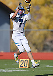 Pahranagat Valley's Shawn Wadsworth makes a reception in the first half of the NIAA DIV championship game against Whittell High at Dayton High School in Dayton, Nev., on Saturday, Nov. 21, 2015. PVHS leads 30-6 at halftime. (Cathleen Allison/Las Vegas Review Journal)