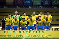 4th June 2021; Beira-Rio Stadium, Porto Alegre, Brazil; Qatar 2022 qualifiers; Brazil versus Ecuador; Players of Brazil pose for official photo before the match