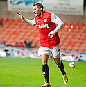 Dundee Utd's David Goodwillie celebrates after he scores their first goal.