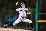 #21 Ono Nanami of Japan serves during the BFA Women's Baseball Asian Cup match between Japan and India at Sai Tso Wan Recreation Ground on September 6, 2017 in Hong Kong. Photo by Marcio Rodrigo Machado / Power Sport Images