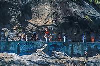 RJ. Rio de Janeiro. 30.08.2020 FLEXIBILIZAÇÃO. Movimentação na praia do Leme , zona sul em época de flexibilização do isolamento social contra a propagação do coronavírus. (Foto: Ellan Lustosa / Código 19)