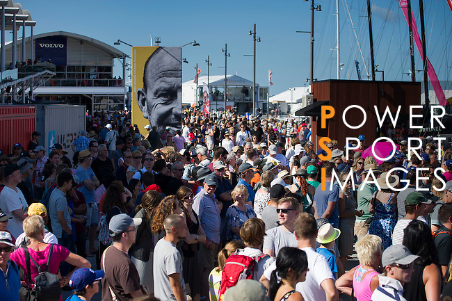 Public enjoy the VOR village during the Volvo Ocean Race 2014-2015 Leg 4 Sanya to Auckland stop-over at the Shed 10 Cruise Ship Terminal on 14 March 2015 in Auckland, New Zealand. Photo by Victor Fraile / Power Sport Images