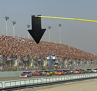HOMESTEAD, FL - NOVEMBER 19, 2006 :  start of race at the NASCAR Nextel Cup Series Ford 400, at Homestead-Miami Superspeedway in Homestead, Florida<br /> <br /> <br /> People:  start of race