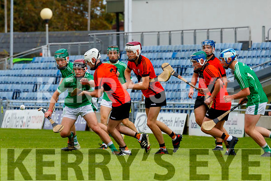 during the Kerry County Minor Hurling Championship Final match between Ballyduff and Ballyheigue at Austin Stack Park in Tralee, Kerry.
