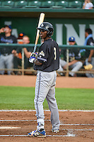 Marcus Wilson (9) of the Missoula Osprey at bat against the Ogden Raptors in Pioneer League action at Lindquist Field on July 20, 2015 in Ogden, Utah. Missoula defeated Ogden 10-6. (Stephen Smith/Four Seam Images)