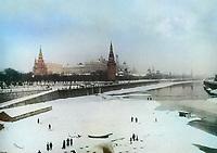 1913. Вид Кремля . Москва. Российская Империя.