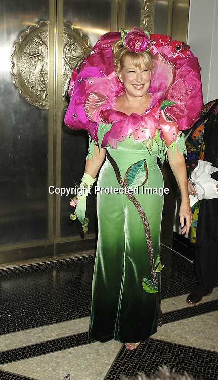 Bette Midler ..at The Hulaween Ball Celebrating  Bette Midler's 10th Anniversary of The New York Restoration Project and Bette Midler's 60th Birthday on October 31, 2005 at The Waldorf Astoria Hotel. ..Photo by Robin Platzer, Twin Images