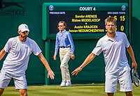 London, England, 5 th. July, 2018, Tennis,  Wimbledon, Men's doubles: Sander Arends and Matwe Middelkoop (NED) (L)<br /> Photo: Henk Koster/tennisimages.com