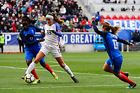 Harrison, NJ - Sunday March 04, 2018: Griege Mbock Bathy, Alex Morgan during a 2018 SheBelieves Cup match match between the women's national teams of the United States (USA) and France (FRA) at Red Bull Arena.