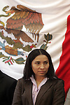 Mexican congresswoman Ruth Zavaleta attends a visit to the Mexico State Congress in Toluca City on September 18, 2007. The Popular Revolutionary Army (EPR) guerrillas delivered a communique accusing Congresswoman Ruth Zavaleta of colaborating with Mexican government of Felipe Calderon to legitimate him. Photo by Javier Rodriguez