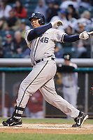 April 28, 2009:  Kyle Blanks of the Portland Beavers, Pacific Cost League Triple A affiliate of the San Diego Padres, during a game at the Spring Mobile Ballpark in Salt Lake City, UT.  Photo by:  Matthew Sauk/Four Seam Images