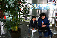 CHINA. Shanghai. A mother and child in the Oriental Pearl Tower. 2008