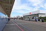 The paddock area gets ready for action before the Formula 1 United States Grand Prix practice session at the Circuit of the Americas race track in Austin,Texas.