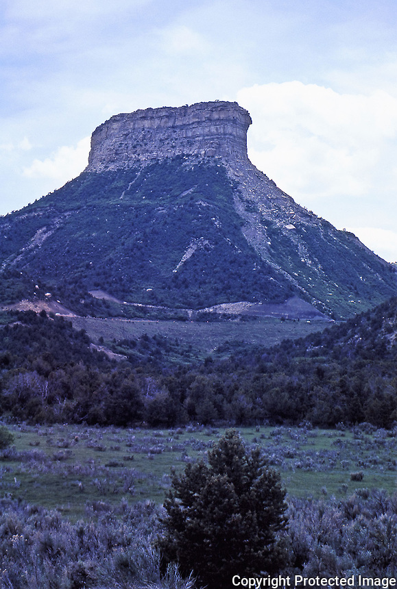 Tor at entrance to Mesa Verde National Park.<br /> Colorado. June 1984.