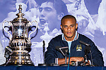 © Joel Goodman - 07973 332324  . 23/05/2011 . Manchester, UK . VINCENT KOMPANY at a press conference at Manchester Town Hall ahead of the parade . Tens of thousands of fans line the streets of Manchester as Manchester City Football Club hold an open-topped bus parade through the city. The team are celebrating winning the FA Cup, their first trophy in 35 years, and for qualifying for next season's Champions League . Photo credit: Joel Goodman