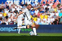 Mike van der Hoorn of Swansea City has a shot during the Sky Bet Championship match between Swansea City and Nottingham Forest at the Liberty Stadium in Swansea, Wales, UK. Saturday 14 September 2019