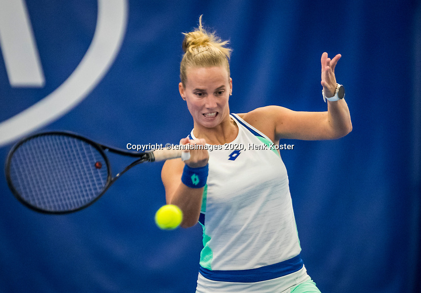 Amstelveen, Netherlands, 18  December, 2020, National Tennis Center, NTC, NK Indoor, National  Indoor Tennis Championships,   :  Richel Hogenkamp (NED) <br /> Photo: Henk Koster/tennisimages.com