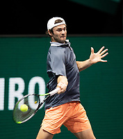Rotterdam, The Netherlands, 4 march  2021, ABNAMRO World Tennis Tournament, Ahoy, Second round match: Second round match: Tommy Paul (USA).<br /> Photo: www.tennisimages.com/