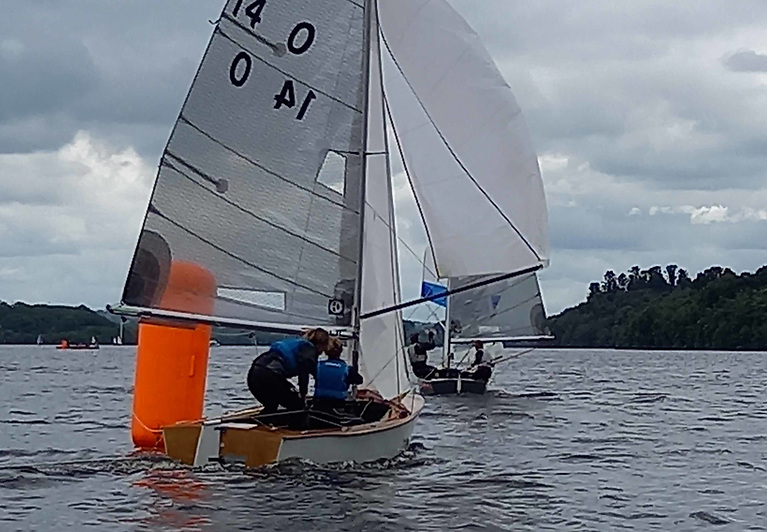 Light air sailing for the last two races of the GP14 championships on Lough Erne