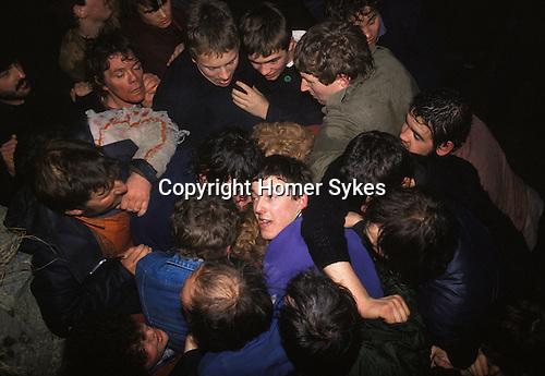 Shrove Tuesday traditional Football game. Ashbourne Derbyshire England 1980s.
