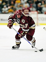18 October 2009: Boston College Eagle forward Brian Gibbons, a Junior from Braintree, MA, in action during the first period against the University of Vermont Catamounts at Gutterson Fieldhouse in Burlington, Vermont. The Catamounts defeated the visiting Eagles 4-1. Mandatory Credit: Ed Wolfstein Photo