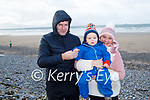 Darren and Charlie O'Sullivan and Elaine Friel from Tralee enjoying Banna Beach on Sunday.