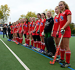 GER - Mannheim, Germany, October 25: After the final at the Deutsche Meisterschaft WJB between Mannheimer HC and Bremer HC on October 25, 2015 at Mannheimer Hockey Club in Mannheim, Germany. Final score 3-4 (ET 1-1, FT 1-1, HT 0-1). (Photo by Dirk Markgraf / www.265-images.com) *** Local caption ***