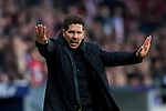 Coach Diego Simeone of Atletico de Madrid gestures during the La Liga 2017-18 match between Atletico de Madrid and Girona FC at Wanda Metropolitano on 20 January 2018 in Madrid, Spain. Photo by Diego Gonzalez / Power Sport Images
