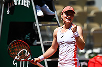 8th June 2021; Roland Garros, Paris France; French Open tennis championships day 10;   Tamara Zidansek ( SLO ) celebrates her win