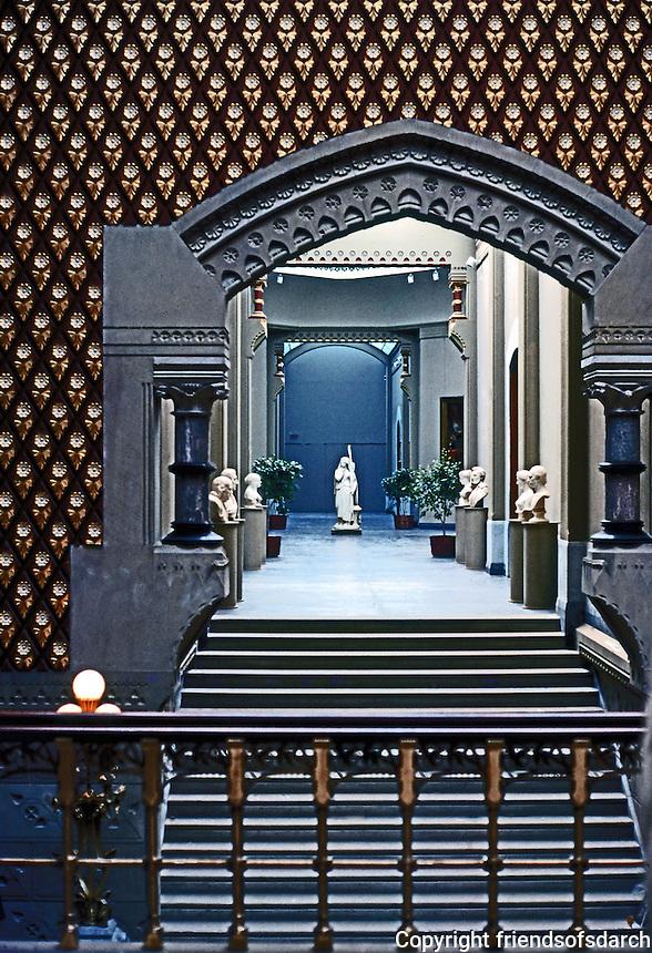 Frank Furness: Pennsylvania Academy of Fine Arts. Interior.  Photo '78.
