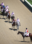 LOUISVILLE, KY - MAY 06: The post parade before the start of the 61st running of The Eight Belles race at Churchill Downs. (Photo by Joan Fairman Kanes/Eclipse Sportswire/Getty Images)