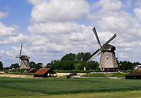 Molens in de Schermer Polder, Noord-Holland