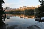 Wrights Lake at sunset, Eldorado National Forest