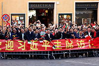 Chinese people waiting for the President<br /> Rome March 22nd 2019. The President of the Chinese Democratic Republic visits the President of the Lower Chamber.<br /> photo di Samantha Zucchi/Insidefoto