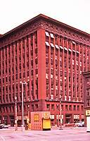 Louis Sullivan: Wainwright Building, 1892. Red brick 10 story skyscraper, St. Louis, MO.   Photo Feb. 1988.