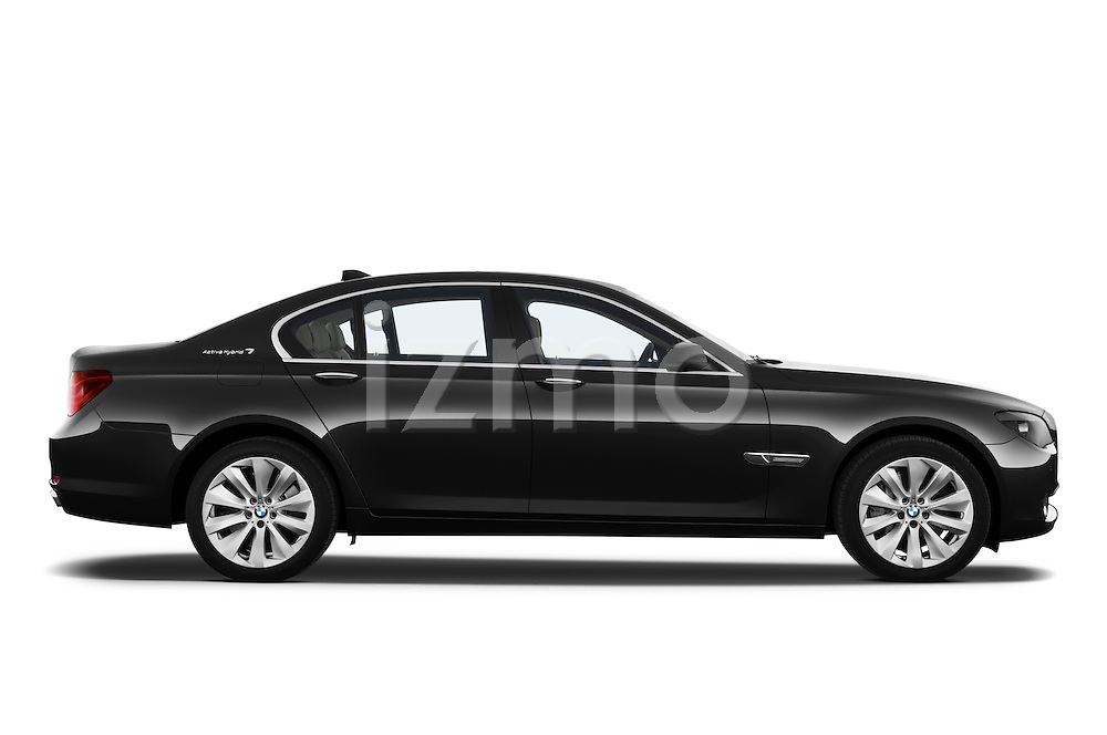 Passenger side profile view of a 2011 BMW 7 Series Active Hybrid .