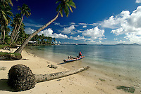 Beach in Chuuk, Micronesia