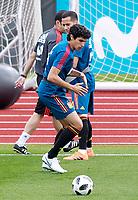 Spain's Lucas Vazquez (t) and Jesus Vallejo during training session. June 5,2018.(ALTERPHOTOS/Acero) /NortePhoto.com NORTEPHOTOMEXICO