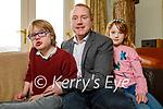 Ronán, Ronan and Hannah Redican at their home in Ballyroe