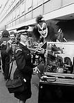 Kiss 1976 Gene Simmons  at London's Heathrow Airport..© Chris Walter..