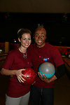 All My Children's Stephanie Gatschet and JR Martinez bowl at the 2009 Daytime Stars and Strikes to benefit the American Cancer Society on October 11, 2009 at the Port Authority Leisure Lanes, New York City, New York. (Photo by Sue Coflin/Max Photos)