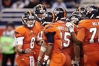 SAN ANTONIO, TX - NOVEMBER 24, 2012: The Texas State University Bobcats versus the University of Texas at San Antonio Roadrunners Football at the Alamodome. (Photo by Jeff Huehn)