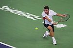 SHANGHAI, CHINA - OCTOBER 11:  Stanislas Wawrinka of Switzerland returns a ball to Gilles Simon of France during day one of the 2010 Shanghai Rolex Masters at the Shanghai Qi Zhong Tennis Center on October 11, 2010 in Shanghai, China.  (Photo by Victor Fraile/The Power of Sport Images) *** Local Caption *** Stanislas Wawrinka