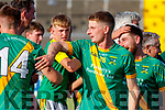 Donal Kennedy, Kilmoyley Kilmoyley players celebrate after winning the Kerry County Senior Hurling Championship Final match between Kilmoyley and Causeway at Austin Stack Park in Tralee